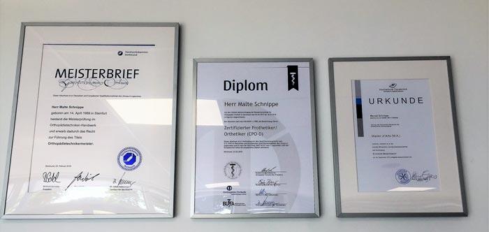 Meisterbrief Diplom Urkunde